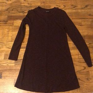 Dark deep red topshop sweater dress